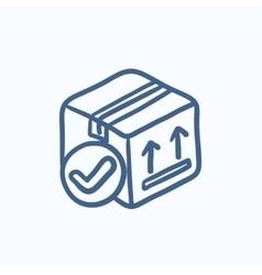 Carton package box sketch icon vector image vector image