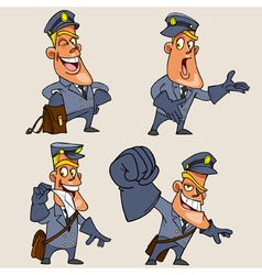 cartoon character postman vector image