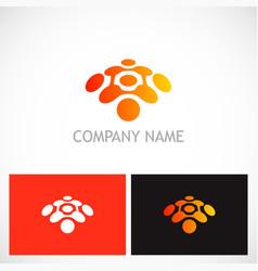 Dot connection technology logo vector