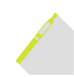 E-cigarette sign pear icon with flat style shadow vector