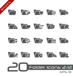 Folder Icons Basics vector image vector image