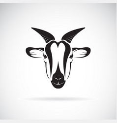 goat head design on white background wild animals vector image