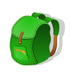Green Backpack vector image vector image