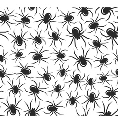 Halloween Spiders Seamless Pattern vector image
