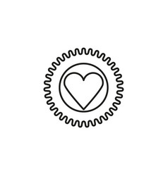 heart sticker icon vector image