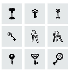 Key icon set vector image vector image
