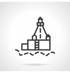 Lighthouse black line icon vector image