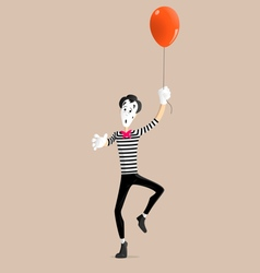 Mime performance - the balloon vector image vector image