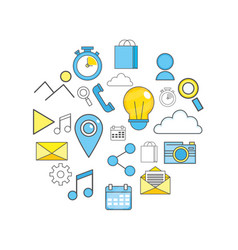 mobile apps technology background design vector image