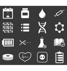 Science icon set 4 monochrome vector