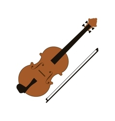 single violin icon vector image