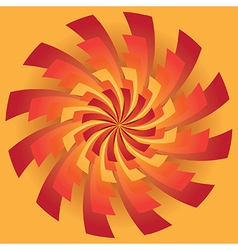 Spinning radiating sun rays vector image vector image