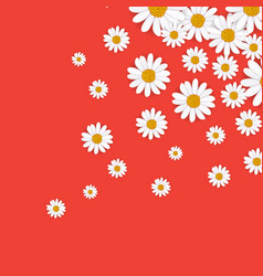 Spring background with blooming chamomile vector