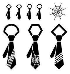 tie black symbols vector image