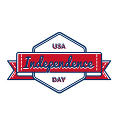 usa independence day greeting emblem vector image vector image