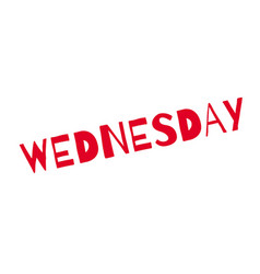 Wednesday rubber stamp vector