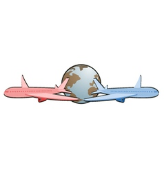 World fly vector image
