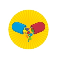 Vitamins icon vector