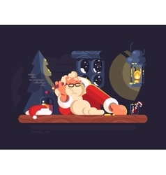 Bad santa claus vector