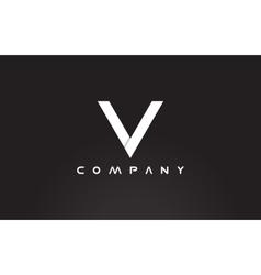 Alphabet letter v black white logo icon design vector