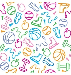 Sports pattern vector
