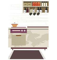 Kitchen interior background vector