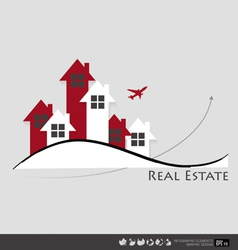 Real estate house vector