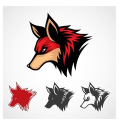 Red Fox Symbol vector image