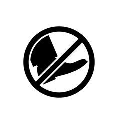 Black park sign do not go vector