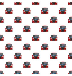 Red car with an open hood pattern vector