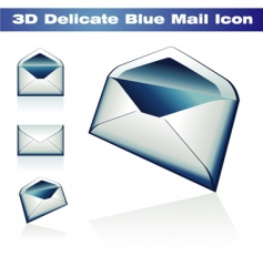 3d classic post icon vector