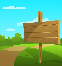 Cartoon Summer Landscape vector image