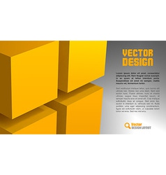 Cube layout vector