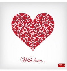 Abstract heart vector