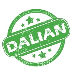 Dalian green stamp vector
