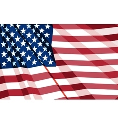 Crumpled us flag vector