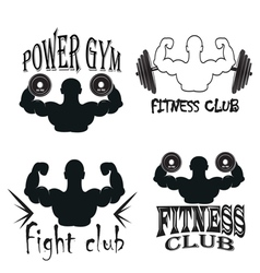 Set of vintage gym emblems vector