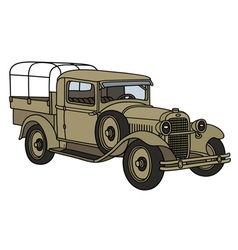 Vintage military truck vector