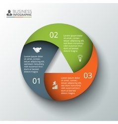 Circle element for infographic vector
