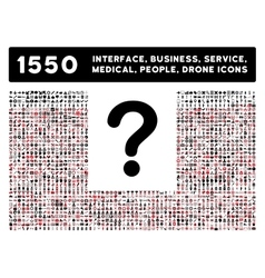 Question icon and more interface business tools vector
