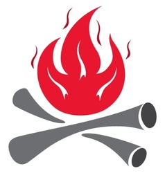 fire symbol vector image