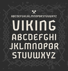Sanserif font in historical style vector