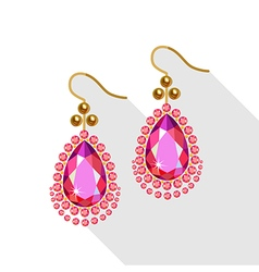 Earrings set vector image