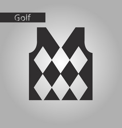 Black and white style icon golf vest vector