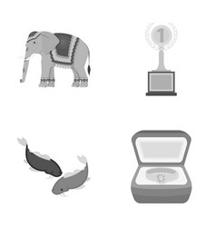 Business tourism trade and other monochrome icon vector