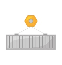 Container cargo shipping hanging vector