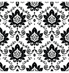 craft floral pattern vector image vector image