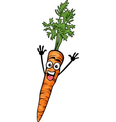 cute carrot vegetable cartoon vector image vector image