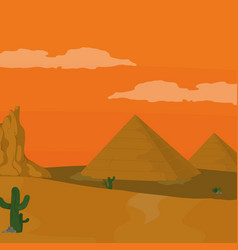 Egyptian pyramids cartoon vector