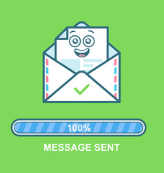 Envelope emoticon flat email vector